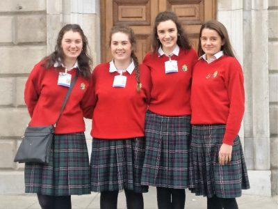 Secret Heart Clonakility visit Leinster House