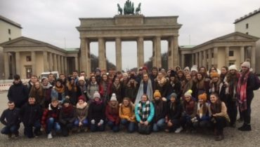 Pictured at the famed Brandenburg Gate in Berlin are Senior History & German students from Our Lady's Castleblayney, who accompanied by 5 of their teachers enjoyed an action packed tour to the historical city of Berlin where their Leaving Cert History course was brought to life and their German oral skills were put to the test!